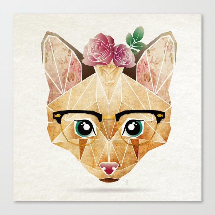miss cat  Canvas Print