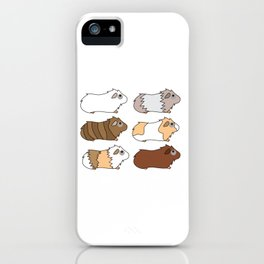 Funny Animal Guinea Pig Tshirt Design Different colors guinea pig iPhone Case
