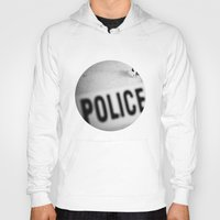 police Hoodies featuring Police Line by GF Fine Art Photography
