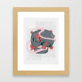 death and silence Framed Art Print