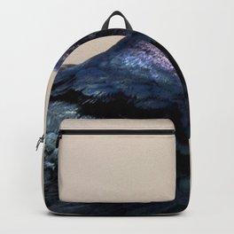 Watercolor Bird, Grackle 02, Estes Park, Colorado, Elegance Personified Backpack