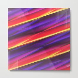 Pattern colorgradient purple Metal Print