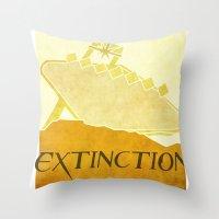 resident evil Throw Pillows featuring Resident Evil Extinction by JackEmmett