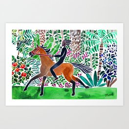 Bush Ride Art Print