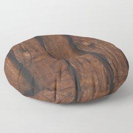 Rustic brown old wood Floor Pillow