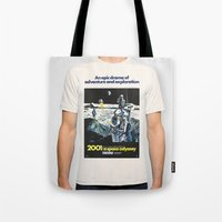 2001 Tote Bags featuring 2001 by Neon Wildlife