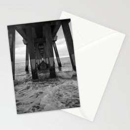 Under The Pier In Black & White Stationery Cards