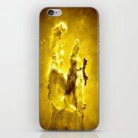 nebula iPhone & iPod Skins featuring Yellow neBUla  by 2sweet4words Designs