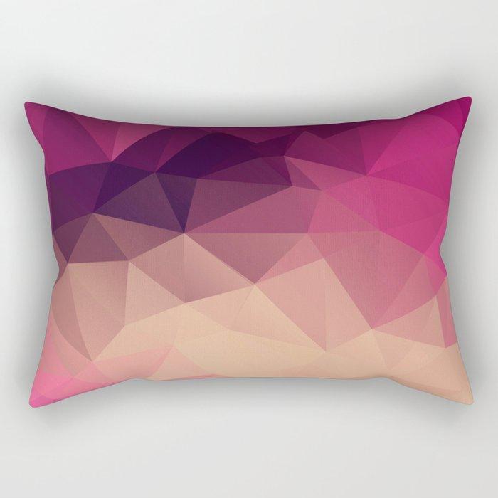 Polygon picture . Sunset. Rectangular Pillow