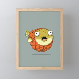 Puffer fish Framed Mini Art Print