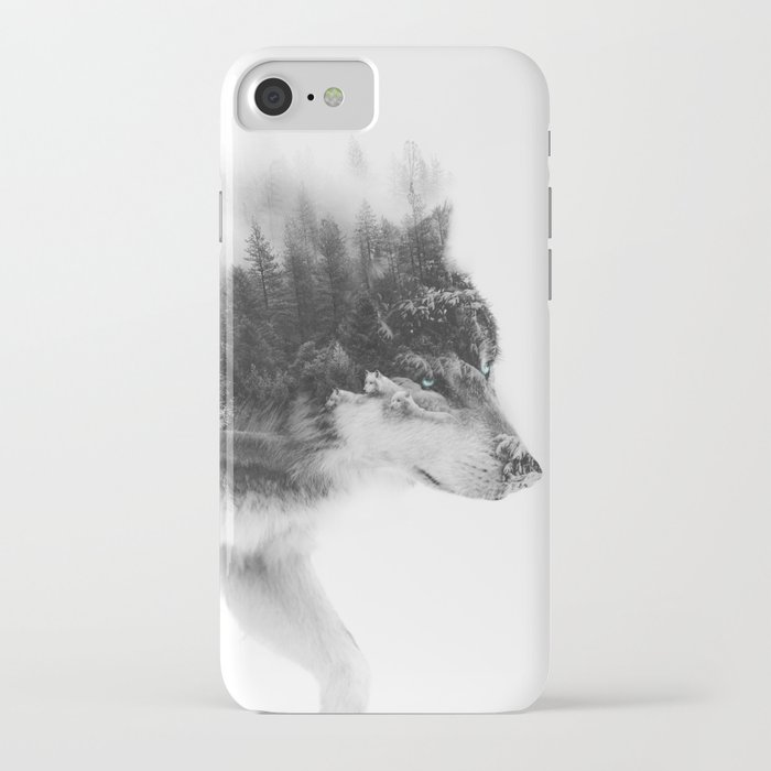 wolf stalking iphone case