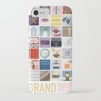 budapest hotel iPhone & iPod Cases featuring The Grand Budapest Hotel by Giulia Brolese