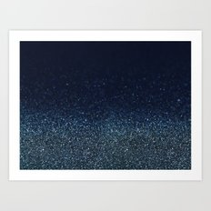 Shiny Glittered Rain Art Print