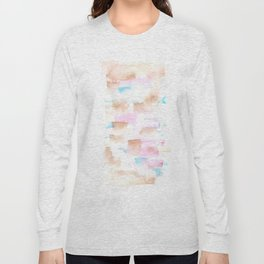 170527 Back to Basic Pastel Watercolour 11   |Modern Watercolor Art | Abstract Watercolors Long Sleeve T-shirt