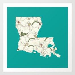 Louisiana in Flowers Art Print