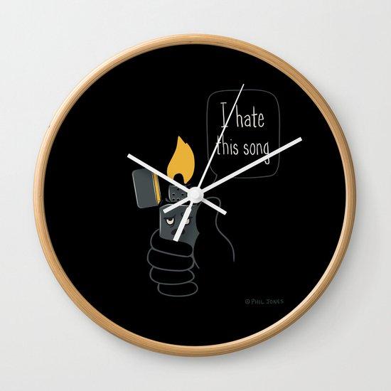 Mad Music Lighter Wall Clock