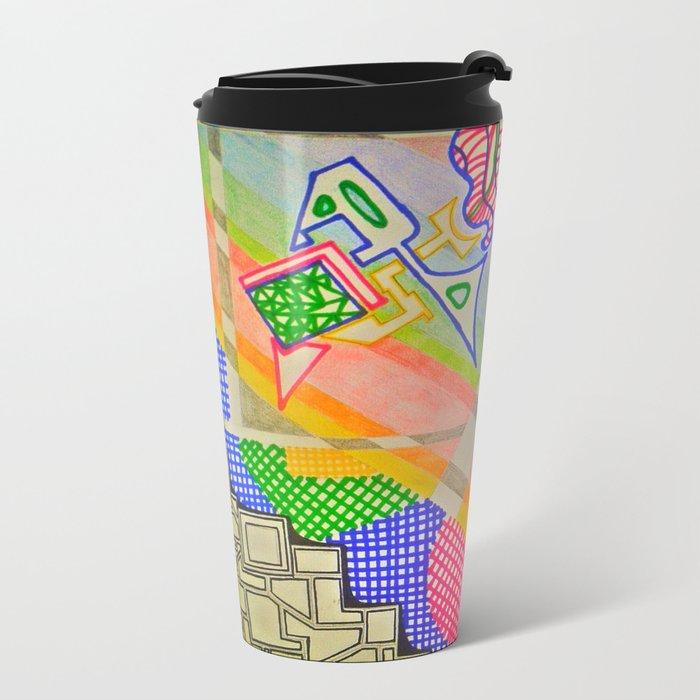 Abstract 2 Metal Travel Mug