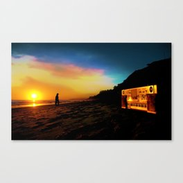 Boom Box Sunset Canvas Print