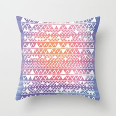 Sunset tribal Throw Pillow