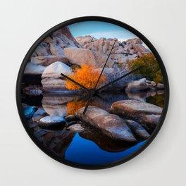 Desert Oasis, Joshua Tree National Park Wall Clock