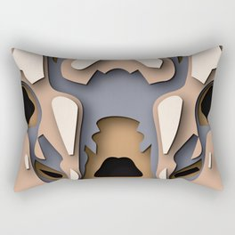 Gazella in PaperCut style Rectangular Pillow
