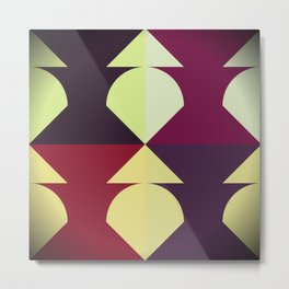 Funky Geometric Metal Print