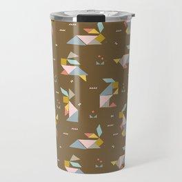 Tangram Bunnies M+M Nutmeg by Friztin Travel Mug