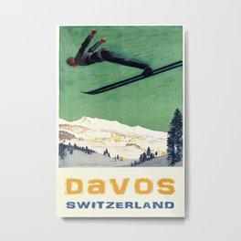 Vintage Travel Davos 2 Metal Print