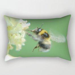 Busy Little Bee - Garden Photography by Fluid Nature Rectangular Pillow