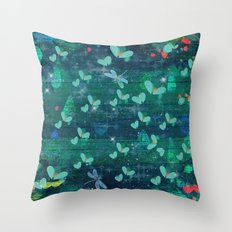 Magical Pond At Midnight Throw Pillow