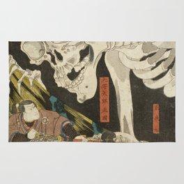 Utagawa Kuniyoshi  - Mitsukuni And The Skeleton Spectermid Rug