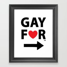 Gay For This Guy Framed Art Print