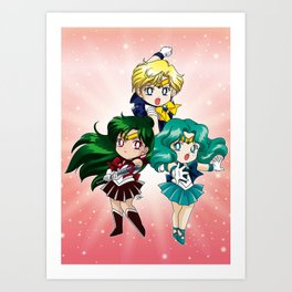 Outer Senshi - Chibi edit. Art Print