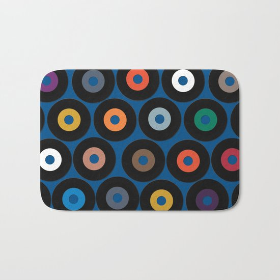 VINYL blue Bath Mat