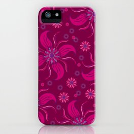Floral Obscura Wine iPhone Case