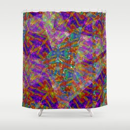 Firefly Montage Shower Curtain