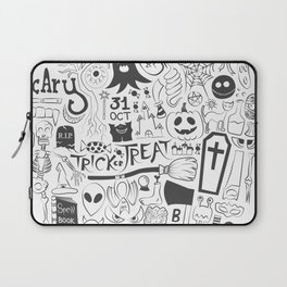 Halloween Doodles (Black) Laptop Sleeve