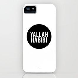 Yallah-Habibi arabic arabia art work iPhone Case