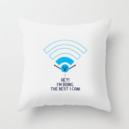 Angry Wifi Throw Pillow