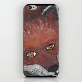 The staring Fox iPhone Skin