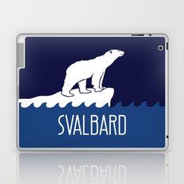Svalbard Dark Season Travel Poster - Norway Laptop & iPad Skin