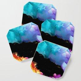 Mountainside Abstract Coaster