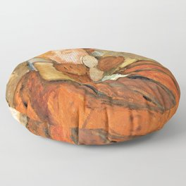 Paula Modersohn Becker - Girl with a Baby Among Birch Trees - Digital Remastered Edition Floor Pillow
