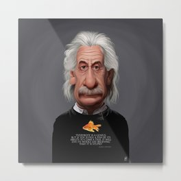 Celebrity Sunday ~ Albert Einstein Genius Fish Metal Print
