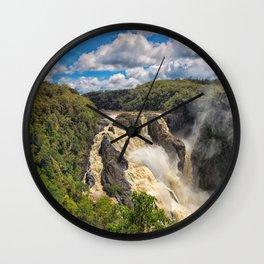 Magnificent Barron Falls in Queensland Wall Clock
