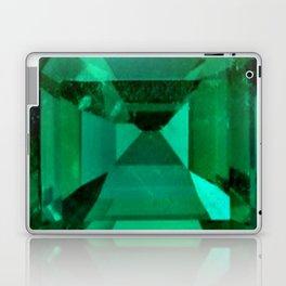 FACETED EMERALD GREEN MAY GEMSTONE Laptop & iPad Skin