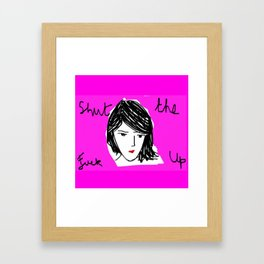 STFU Framed Art Print