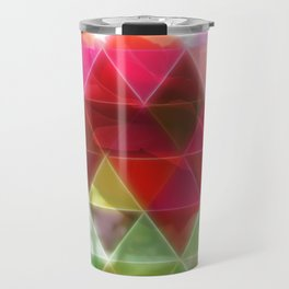 Red Rose with Light 1 Art Triangles 1 Travel Mug