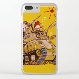 Tanker Apes Smoke Cigars Clear iPhone Case