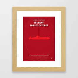 No198 My The Hunt for Red October minimal movie poster Framed Art Print